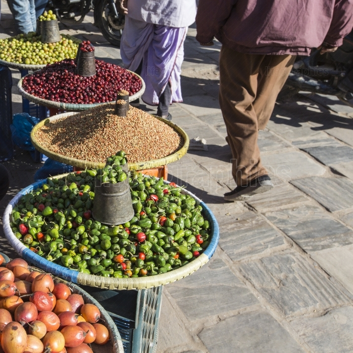 Local market in Nepal.