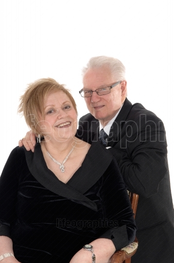 Lovely older couple embracing