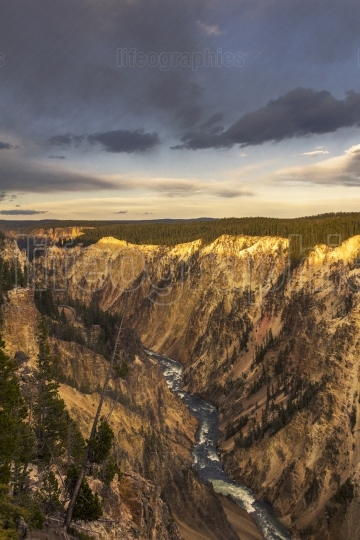 Lower Fall and River viewed from Artist Point, Grand Canyon at Y