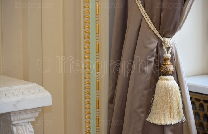Luxury silk curtain