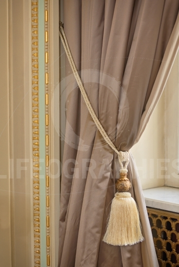 Luxury silk curtain and tassel