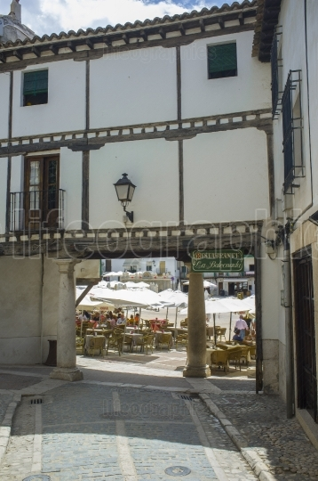 Main square entry if Chinchon Main Square, Spain