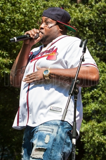 Male Rapper Performs At Atlanta Hip Hop Day