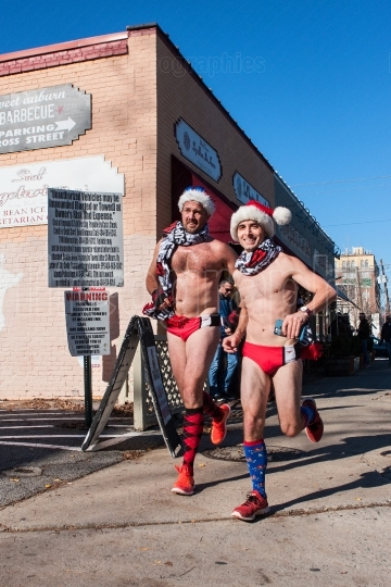 Male Runners Wearing Speedo Swimsuits Run In Quirky Atlanta Even