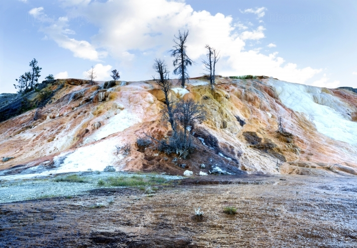 Mammoth Hot Springs in Northern part of Yellowstone National Par