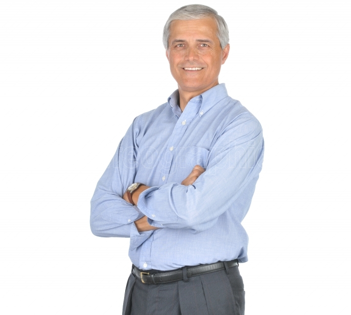 Man in Blue Shirt Arms Folded