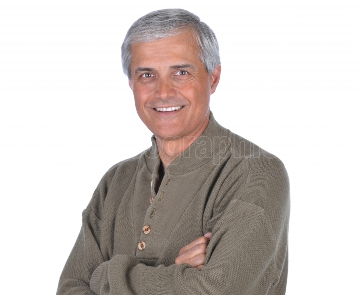Man in Green Sweater Arms Folded