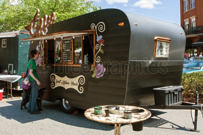 Man Orders Beverage From Coffee Themed Food Truck