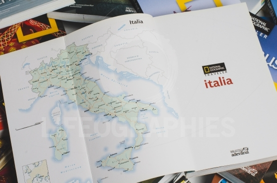 Map of italy on national geographic guide