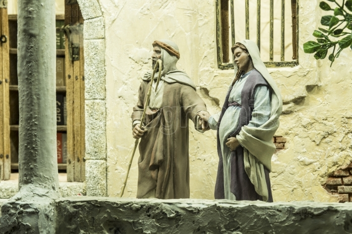 Mary and Joseph Looking for overnight accommodation
