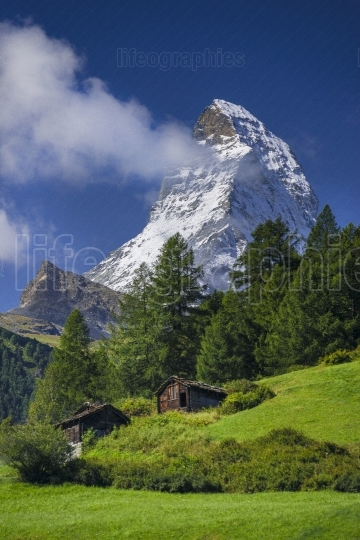 Matterhorn peak in the alps