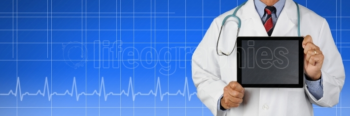 Medical Banner with Doctor