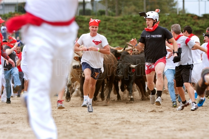 Men Run Ahead Of Stampeding Bulls At Unique Georgia Event