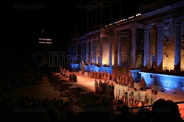 Merida roman theater festival performance
