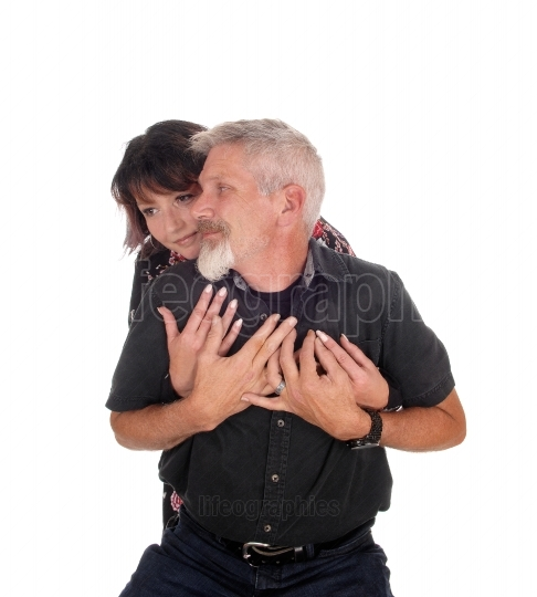 Middle age couple embracing