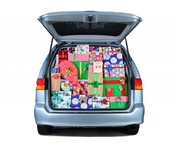 Minivan Full of Christmas Presents