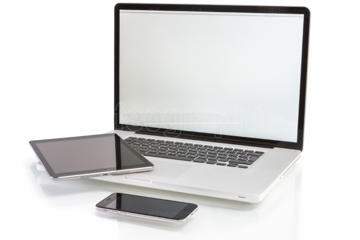 Modern computer devices - laptop, tablet pc and phone