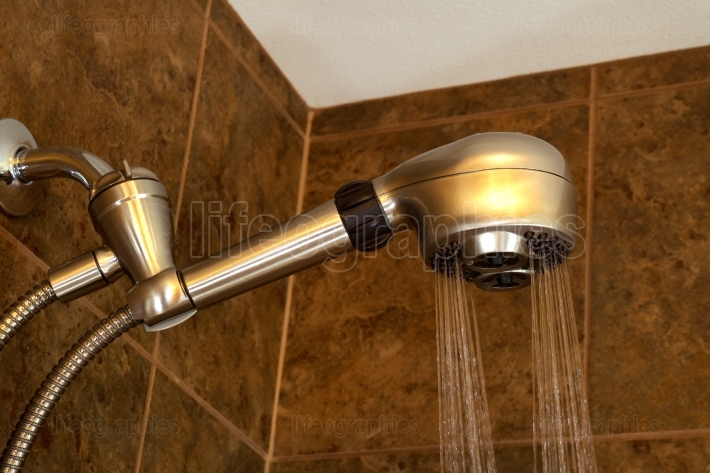 Modern Shower Head running