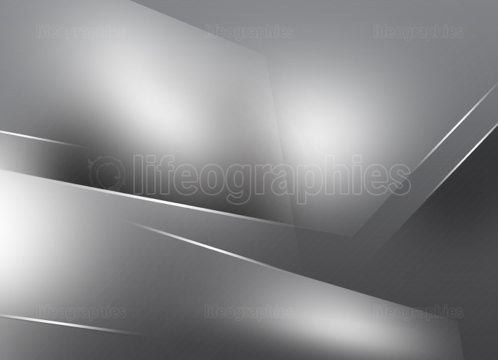 Monochromatic Gray Background with Surfaces and White Lines