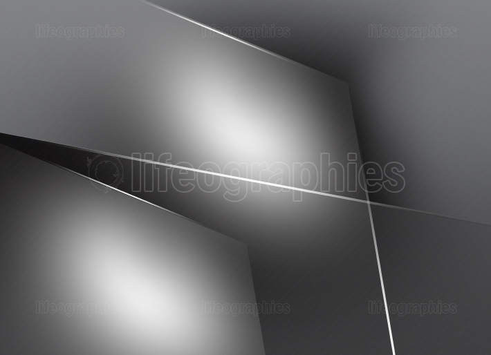 Monochromatic Gray Background with Surfaces and White Lines II
