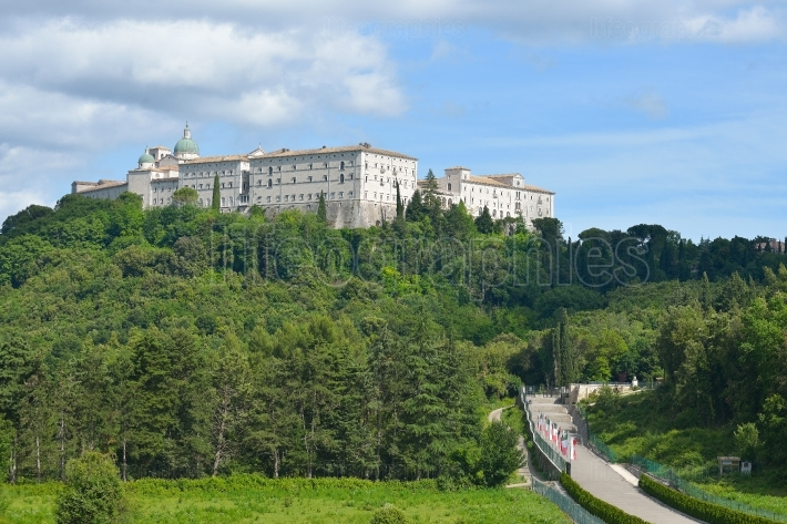 Montecassino abbey near Cassino, Italy
