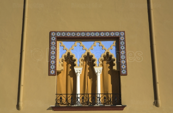 Moorish window in Cordoba, Spain