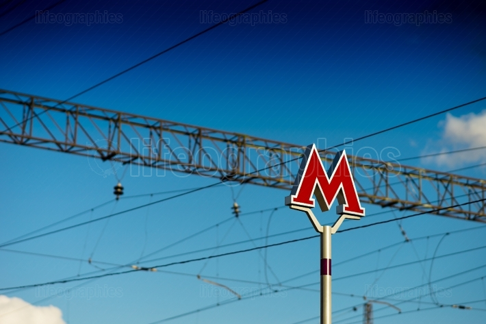 Moscow Metro sign background