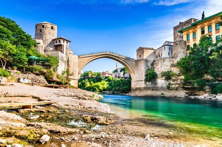 Mostar, bosnia and herzegovina - stari most, old bridge