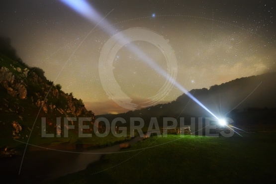 Mountain landscape by night - Fundatura Ponorului, Romania