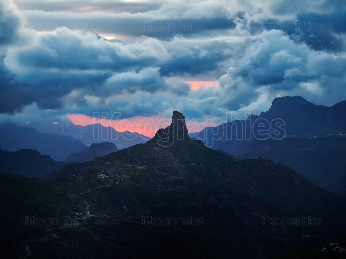 Mountain landscape in Gran Canaria island, Canary islands, Spain
