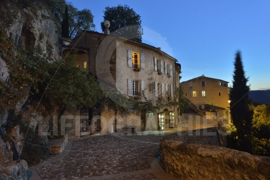 Moustiers Sainte Marie by night