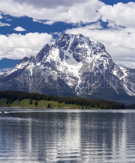 Mt  Moran at the Grand Teton National Park, Wyoming