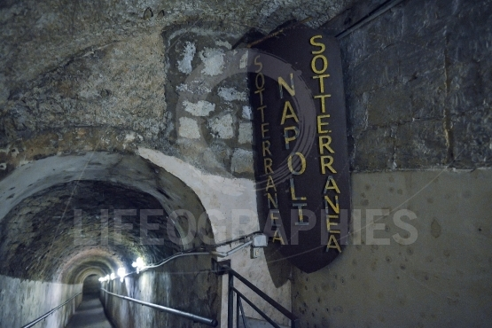 Naples ancient underground galleries at naples, italy