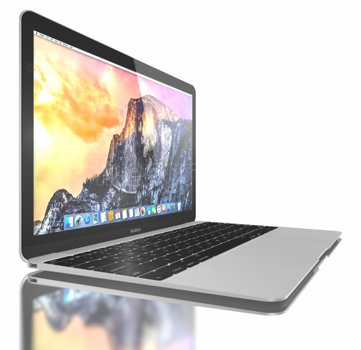 New silver macbook air
