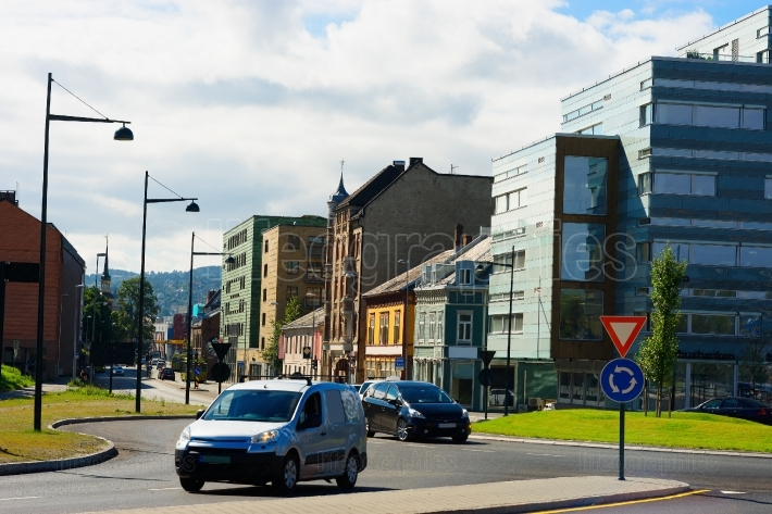 Norway city streets background