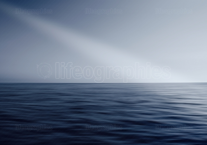 Ocean horizon ray of light abstraction