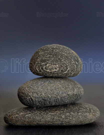 Oile of stones isolated in nature