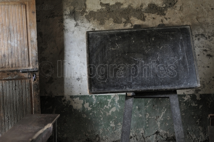 Old and poor school from Shimshal village