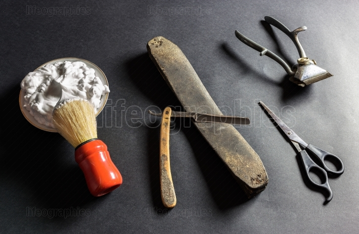 Old Barber Tools