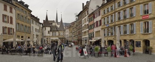 Old city center from neuchatel