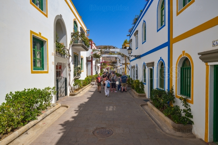 Old city of Puerto de Mogan in Gran Canaria Spain