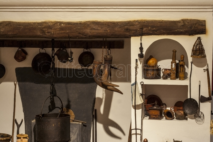 Old country kitchen, Spain