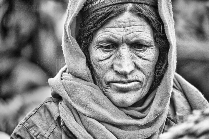 Old lady from upper shimshal village.