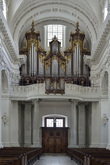 Old organ from Cathedral of Solothurn. Switzerland