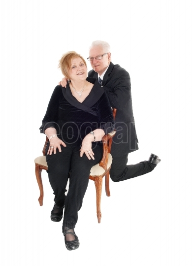 Older couple in lovely pose