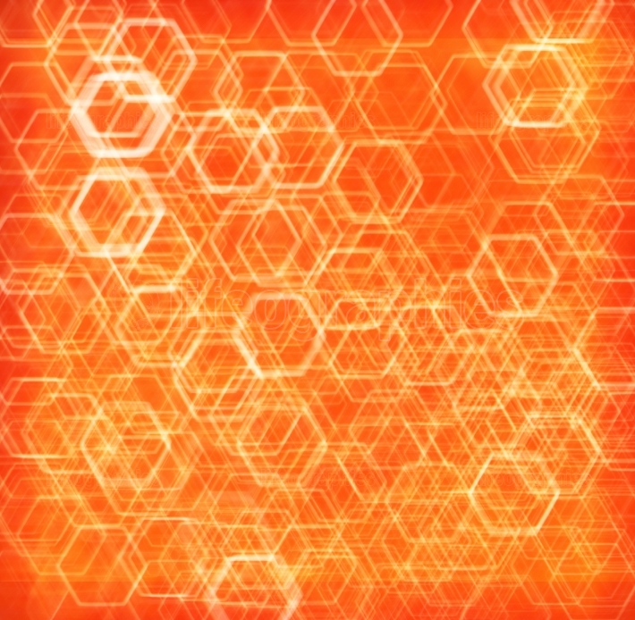 Orange hexode cells abstract background