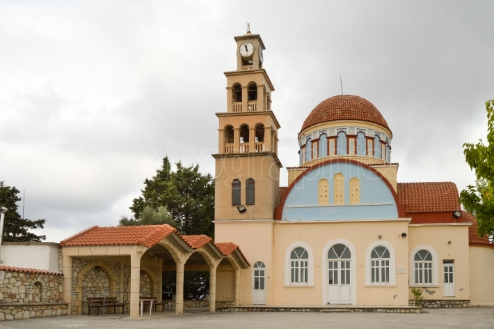 Orthodox church with a dome in the north west