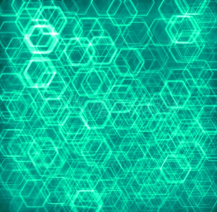 Pale green hexode cells abstract background