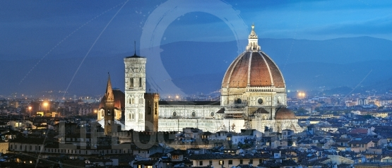 Panorama of florence and cathedral of santa maria del fiore (duo