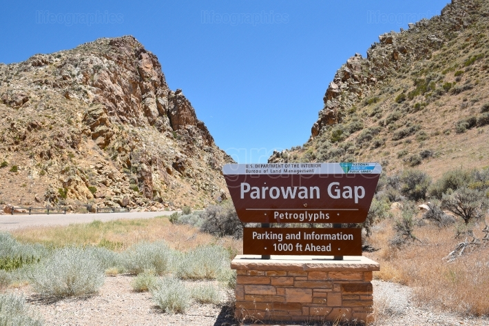 Parowan Gap Sign